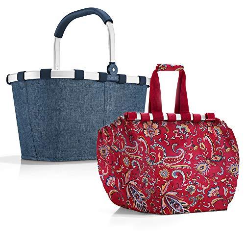 reisenthel Carrybag Einkaufskorb Einkaufstasche Easybag Shoppingtasche Korb Falttasche Einkaufskorb Picknickkorb Shoppingbag Klappkorb (twist blue)