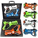 Liberty Imports Infrared Laser Tag 4 Players Game Set for Kids - Indoor Outdoor Multiplayer Toy Guns Battle Blasters...