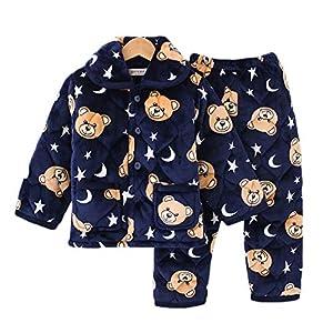 Conjuntos De Pijama para Niñas Niños Pijamas Top + Pantalones 6120 10(Altura:90-105CM/35.43-41.34