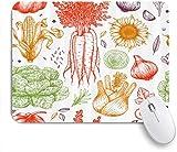 Benutzerdefiniertes Büro Mauspad,Farm Gemüse Karotten Zwiebel Mais Knoblauch Sonnenblumen Salat,Anti-slip Rubber Base Gaming Mouse Pad Mat