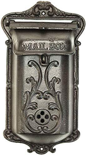 Sungmor Exquisite Heavy Duty Gietijzeren Muur gemonteerde Mail Box | Retro Vintage Stijl Veilige Afsluitbare brievenbus | Nostalgische Indoor Outdoor Wanddecoratie