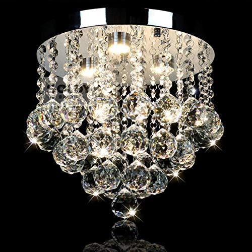 Moderne minimalistisch roestvrij staal K9 kristallen bal DIY plafondlamp woonkamer decoratie acryl LED E14 lamp verlichting