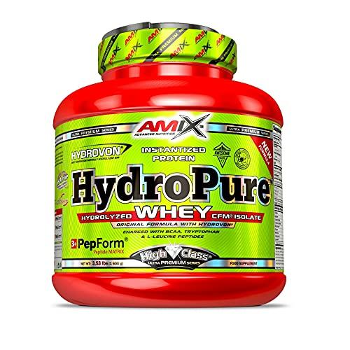 Amix - Hydropure Whey CFM - Suplemento Alimenticio - Mejora del Rendimiento - Contiene Aminoácidos Bcaa - Glutamina en Polvo - Nutrición Deportiva - Sabor a Fresa - Bote de 1,6 Kg