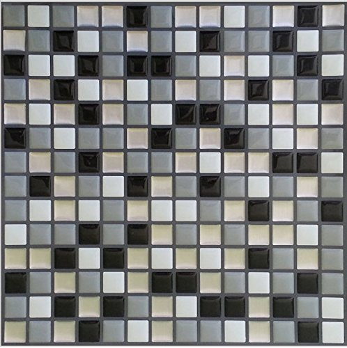 DooXoo 45 x 200 cm, da cucina, in alluminio rivestito in PVC, mosaico adhensive Stickers-Adesivi da parete, motivo: carta da parati, Specchio adesivo da parete per bagno, impermeabile