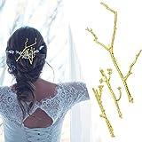 RechicGu Gold Plated Chic 3Pcs Christmas Tree Branch Hair Pin Headband Dress Snap Barrette Clip Fasci