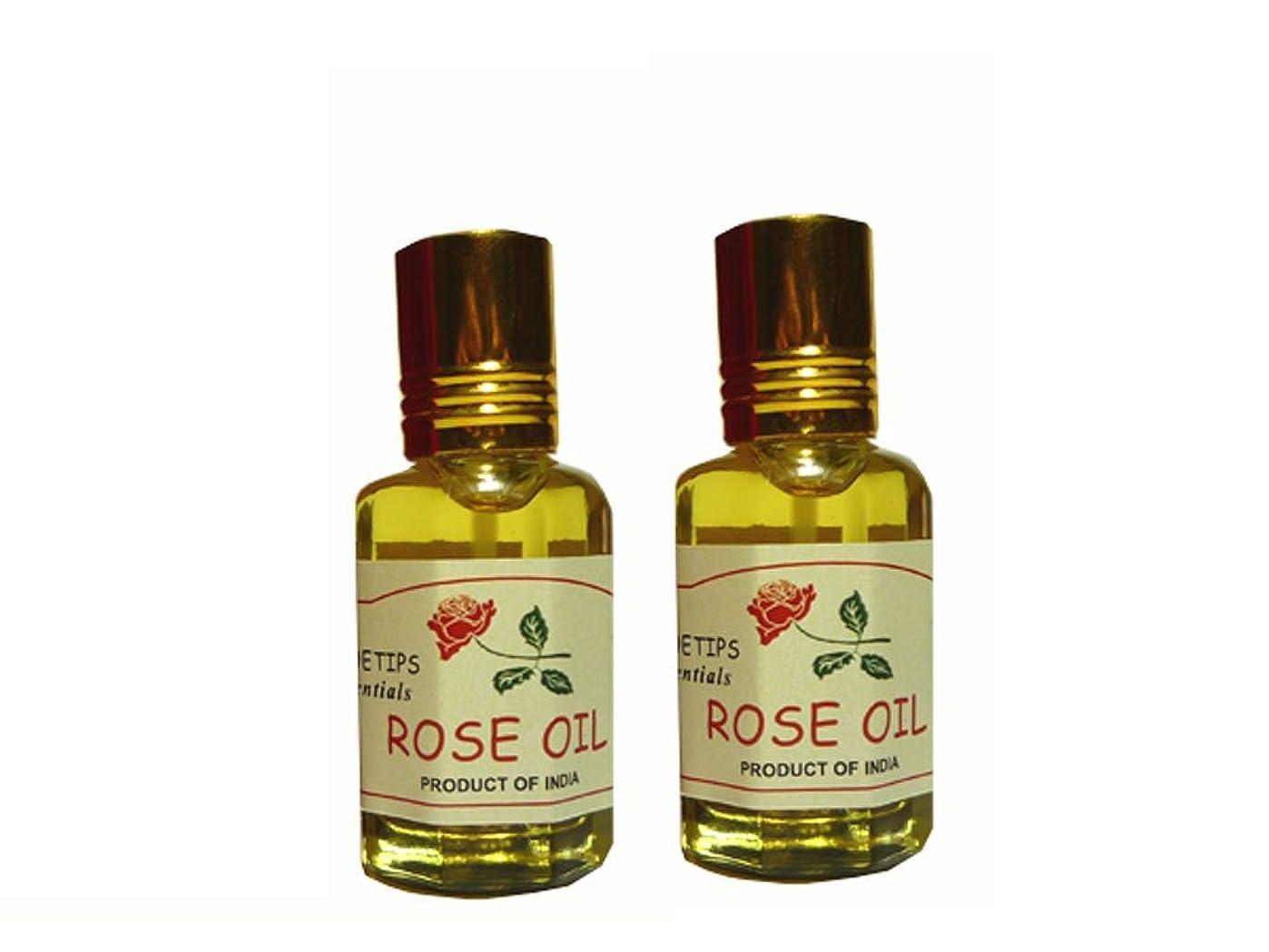 縮れた電子飛行機ペコー ティップス ダマスクローズ オイル オット 100%精油(インド産 精油) 2本 PEKOE TIPS TEA ROSE ESSENTIAL OIL ROSA DAMASCENA(Damask rose) 12ml*2set