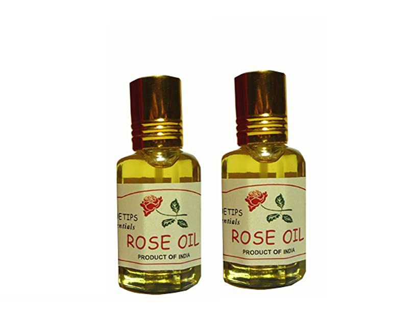 暗唱する反乱バイバイペコー ティップス ダマスクローズ オイル オット 100%精油(インド産 精油) 2本 PEKOE TIPS TEA ROSE ESSENTIAL OIL ROSA DAMASCENA(Damask rose) 12ml*2set