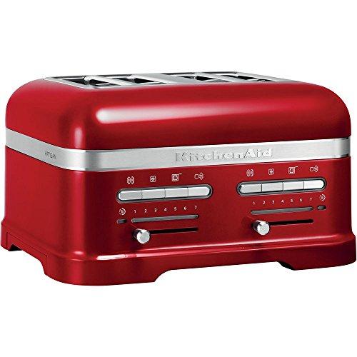 KitchenAid 5KMT4205ECA - Tostador (4 rebanada(s), Rojo, Aluminio, 2500 W, 220-240 V, 50-60 Hz)