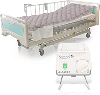Pressure Mattress Air Bubble Pad - Includes Electric Pump System Quiet, Inflatable Bed Air for Pressure, Ulcer and Pressure Sore Treatment - Standard Hospital Bed Size (SLAIRMATR45)