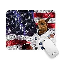 Pricetailマウスパッド、Pretty Bald Eagle US Flagマウスパッド(デザインあり)、ノンスリップマウスパッド、防水Officeマウスマット(PCコンピューター用)ノートパソコン、7.9 x 9.8 x 0.1インチ