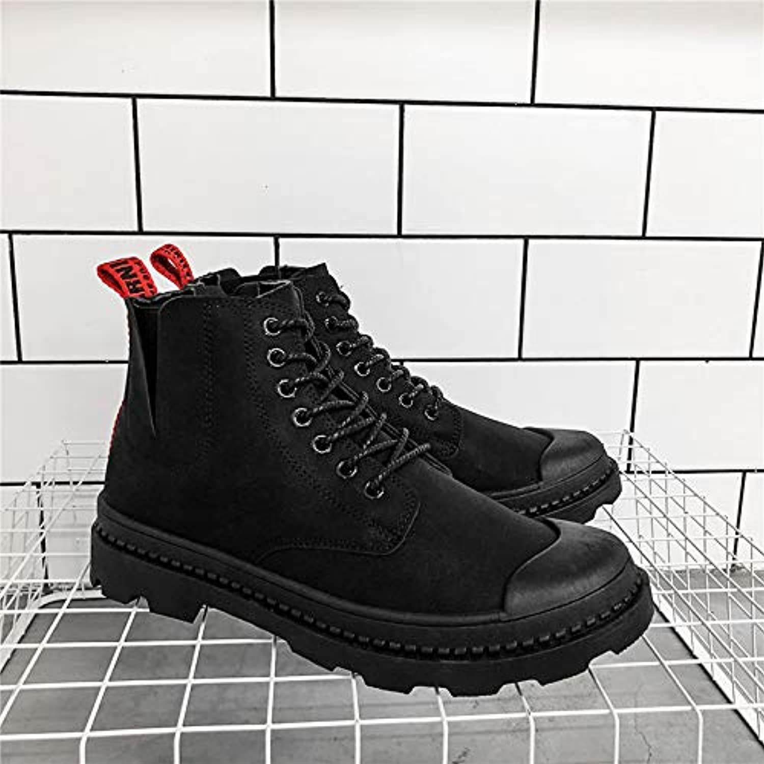LOVDRAM Boots Men's Martin Boots In The Men'S shoes Autumn And Winter Casual shoes Men'S Desert Tooling shoes Boots