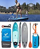 Paddle Gonflable Surf 11' Stand Up Paddle Board Gonflable 335x84x15 cm + Pagaie réglable en Aluminium + Voyage Sac à Dos + Pompe...