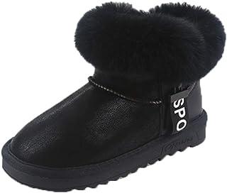 OHmais Enfants Fille Botte Classiques Bottes de Neige Femmes Bottines Fourrées Fille Chaussures Chaudes Hiver Cheville Pla...