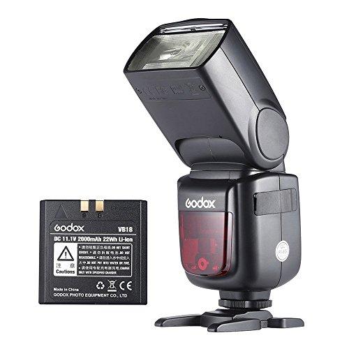 【技適認証&PSE認証取得】GODOX V860II-N i-TTL 1/8000S HSS マスタスレーブ GN60 スピードライト フラッシュ 内蔵2.4G ワイヤレス X システム 2000mAh 充電式 リチウムイオン電池付き Nikon D800 D700 D7100 D7000 D5200 D5100 D5000 D300 D300S D3200 デジタル一眼レフカメラ用 (ニコン用)
