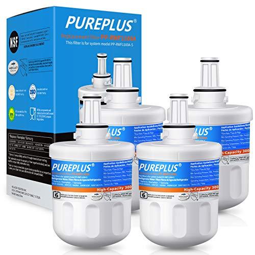 PUREPLUS DA29-00003G Water Filter Replacement for Samsung DA29-00003B, Aqua-Pure Plus DA29-00003F, DA29-00003A, HAFCU1, HDX FMS-1, RSG257AARS, RFG237AARS, RFG297AARS, RS22HDHPNSR Refrigerator, 4Pack