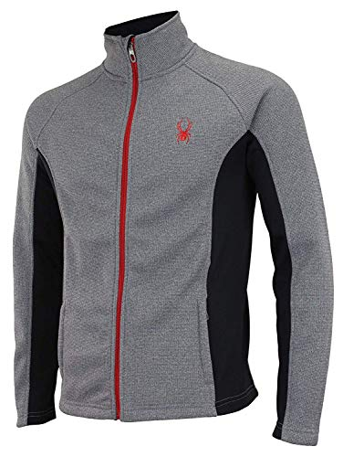Spyder Men Constant Full Zip Sweater Heather Grey Size L