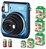 Bundle Fuji Instax Mini 70 Instant Camera + 100-shot Film + 2 Spare CR2 Battery: all you need to start Instant photography