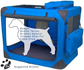 PET GEAR Generation II Soft Crate MEDIUM - BLUE - PET