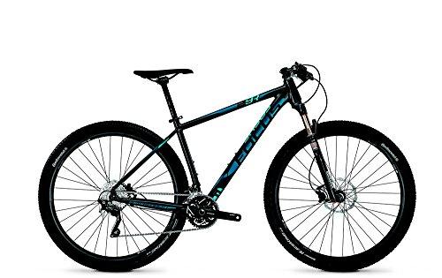FOCUS Black Forest Bicicleta 29R, sistema de 30 velocidades, para hombre, MTB de 29 pulgadas, 47 cm, Magicblack (negro) mate (azul, azul claro), 2014