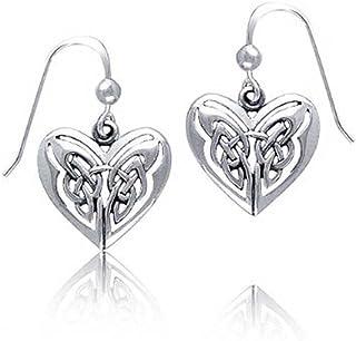 08782a1aff BFF Celtic Irish Love Knot Work Fish Hook Heart Shaped Butterfly Drop  Earrings For Women Teen