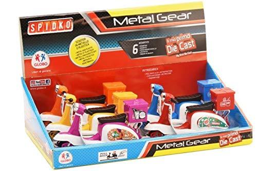 GLOBO, Scooter Die Cast Back 6 Piezas d/Box 6 Colores (38419), Multicolor (1)