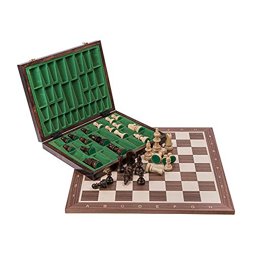 Keyohome Wooden Chess Set Folding Portable Crafted Magnetic International Chess Pieces Tournament Staunton Chess Pieces Entertainment Board Game Set B