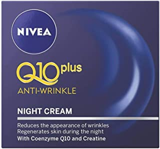 Night Cream :Nivea Visage Anti-Wrinkle Q10 Plus Moiturizer Night Reduces wrinkles visibly ,Regenerates skin during night .Net wt 1.76 Oz or 50 Ml.