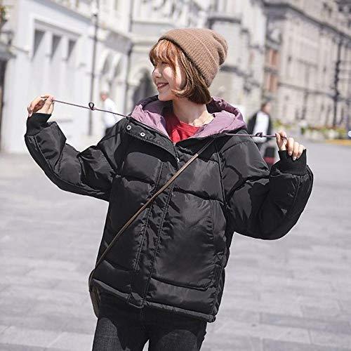WFSDKN dames Parka 2019 winterjas dames donzen katoenen mantel parka imitatiebont capuchon outwear korte breadwear dames warme mantel