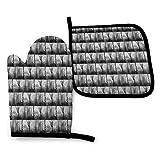 lymknumb Conjuntos de Guantes y agarraderas para Horno & iexcl; & Curren; Set de Cocina Resistente al Calor Opeth Arts
