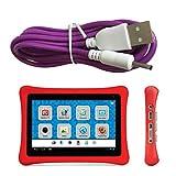 Charger Cord for NABI 2 II NABI2-NV7A NABI2-NVA, Bright Color Purple 6.5 ft Long USB-DC-PU