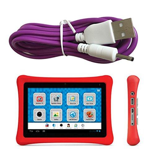 Charger Cord for NABI 2 II NABI2-NV7A NABI2-NVA, Bright Color Purple, 6.5 ft Long, USB-DC-PU