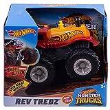 Hot Wheels Monster Trucks 1:43 Rev Tredz Assortment with Friction Motor and Big Wheels
