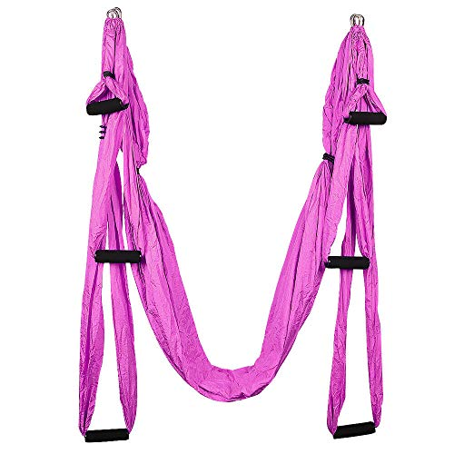 Read About NYW Anti-Gravity Yoga Swing Hammock Body Aerial Trapeze Flying Sling Inversion Home Pink