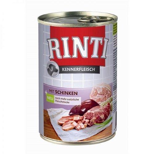 Rinti Hundenassfutter Kennerfleisch mit Schinken 6x400g