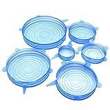 Tapas elásticas de silicona, reutilizables, resistentes, extensibles, ideales...