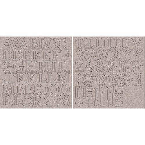Kaisercraft kartonnen spaanplaat alfabet 12 inch x 12 inch sheets-1,7 inch hoofdletters en symbolen