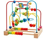 Kunmark Wooden Fruits Insect Bead Maze Roller Coaster Activity Cube Educational Abacus Beads