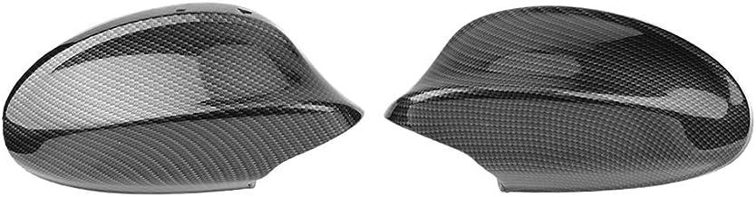 Ahomi - Cubierta de espejo retrovisor para puerta de coche, diseño de borde de fibra de carbono