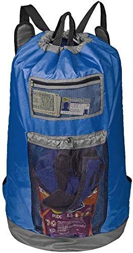 HOMEST Laundry Backpack Bag Extra Large with Mesh Pocket Shoulder Straps Machine Washable Durable product image