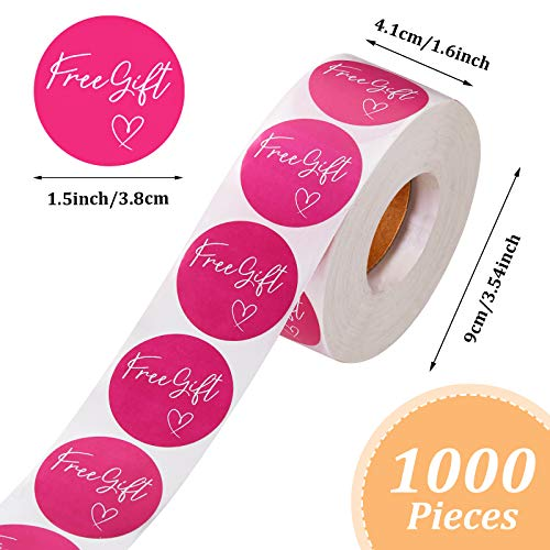 1000 Pieces Customer Appreciation Stickers Small Business Sticker Roll Round Self-Adhesive Stickers Labels for Packing Mailing Envelopes Postcards, 1.5 Inch (Pink Background) Photo #4