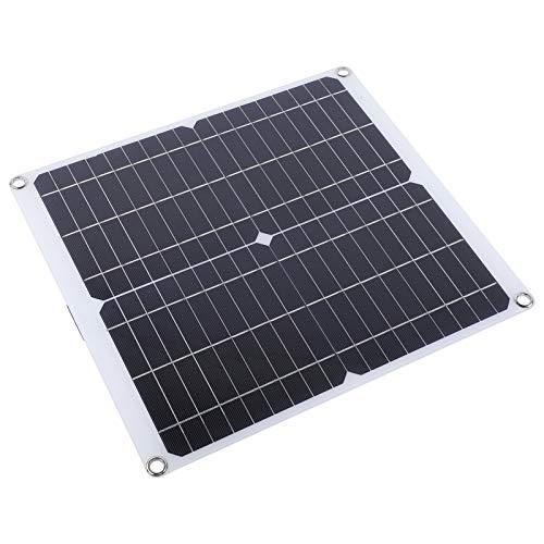 bizofft Cargador de Panel Solar, silicio monocristalino 18 V Cargador de batería Solar ecológico, 20 W para teléfono móvil con cámara Deportiva