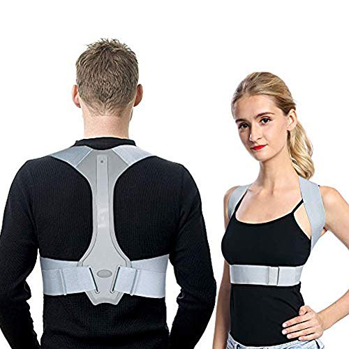 Haltungstrainer, Geradehalter zur Haltungskorrektur für Damen und Herren, Rückentrainer Schulter Rückenstütze für die obere Rückenlehne, Haltungskorrektur-Gürtel für Nacken und Schulterschmerzen
