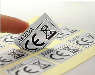 1000pcs Customize Rectangle Matt Silver Glue Label, Digital Printed Matt Silver CE Certificate Stickers