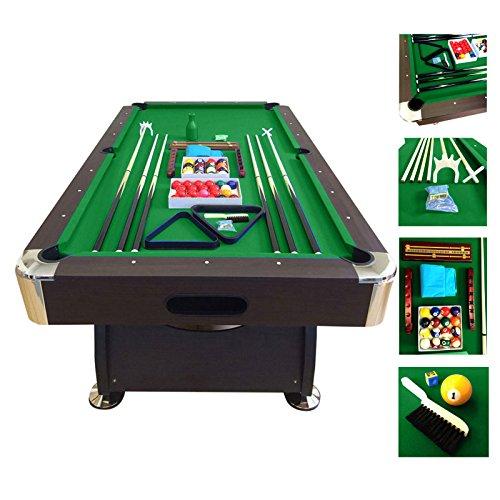 Mesa de billar juegos de billar pool 7 ft GREEN SEASON FULL ...