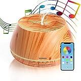 YOUNGDO Diffusore Aroma Olimpo 400ml con Altoparlante Stereo, Olimpo Diffusore di Oli Essenziali ad Ultrasuoni con Bluetooth e App