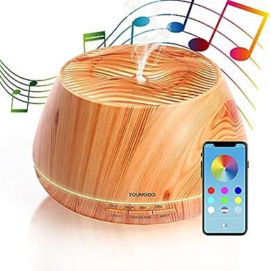 Foto di YOUNGDO Diffusore Aroma Olimpo 400ml con Altoparlante Stereo, Olimpo Diffusore di Oli Essenziali ad Ultrasuoni con Bluetooth e App