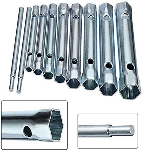 10Pcs Dual-Ended Wrench Socket Plumber Back Nut Tap Spark Plug Spanner Set Extended Spark Plug Wrench 6-22mm