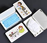 Paquete de Oferta Familiar de 4 Cajas de Almacenamiento de mascarillas Desechables - de Gran tamaño - Almacenamiento a Prueba de Agua - a Prueba de Polvo