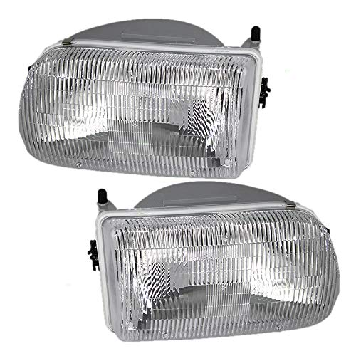 Driver and Passenger Headlights Headlamps Replacement for Mazda Pickup Truck ZZM051040 ZZM051030