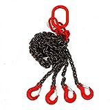 Eslingas de cadena de 4 patas Eslinga de cadena de elevación Herramienta de elevación de longitud de trabajo de 5 toneladas y 1,5 m
